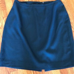 Teal, lined wool straight skirt EUC 18W